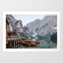 Day at the Mountain Lake Art Print