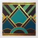 Art Deco New Tomorrow In Turquoise by henrikbakmann