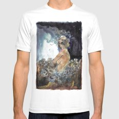 Coral MEDIUM Mens Fitted Tee White