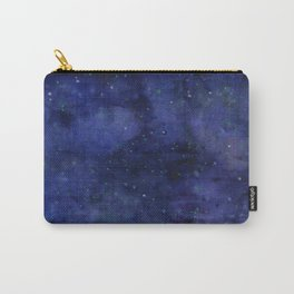 Galaxy Watercolor Nebula Texture Night Sky Stars Carry-All Pouch