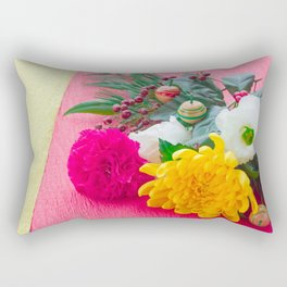 The Decoration Flower Of New Year Rectangular Pillow