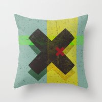 cross Throw Pillows featuring CROSS by Metron
