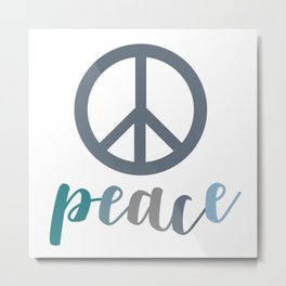 Peace- The symbol of peace Metal Print