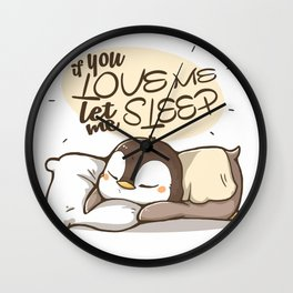 You love me? Wall Clock
