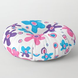 ABSTRACT FLORAL SKETCH Floor Pillow