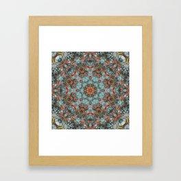 Autumn Berries -- Thanksgiving Bittersweet Vine Mandala Framed Art Print