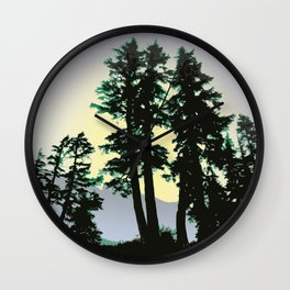 SUMMER EVENING AT HEATHER MEADOWS Wall Clock