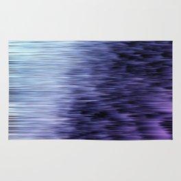 Offshore We Go Purple Glitch Pattern Rug