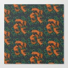 Foxy Pattern Canvas Print
