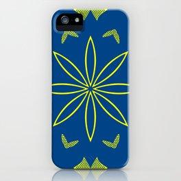 Maize & Blue Floral Mandala iPhone Case