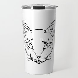 Cat Dotwork Travel Mug