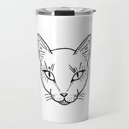 Cat Dotwork Travel Mug