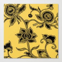 Vintage Floral Primrose Yellow Canvas Print
