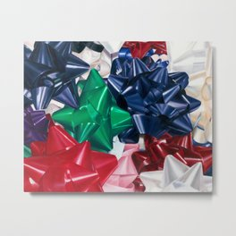 Christmas Bows Metal Print