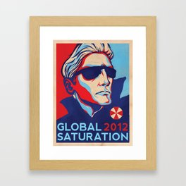 GLOBAL SATURATION 2012 Framed Art Print