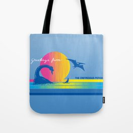 Greetings From The Cretaceous Period Tote Bag