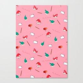 Pink Shark and Whale Shark Canvas Print