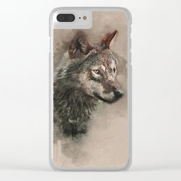 European Wolf Clear iPhone Case