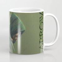 green arrow Mugs featuring Green Arrow by xDontStopMeNow