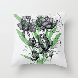 Telescopes on the seabed Throw Pillow