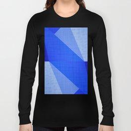 Lapis Lazuli Shapes - Cobalt Blue Abstract Long Sleeve T-shirt