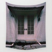 doors Wall Tapestries featuring Patio Doors by shelbiedewitt