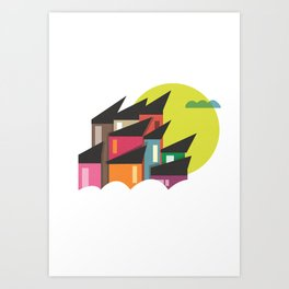 Houses of Colors Art Print