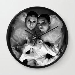 'Le Pierrot et Pierette' (c)Joel Stephen Birnie 2016 Wall Clock