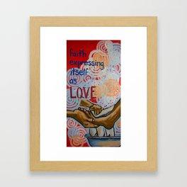 faith expressed Framed Art Print