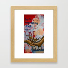 faith expressed Framed Art Print