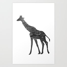 Giraffe (The Living Things Series) Art Print