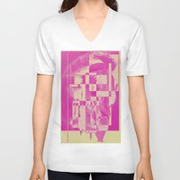 pop art V-neck T-shirts featuring Pop by MonsterBrown