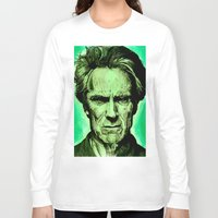 clint eastwood Long Sleeve T-shirts featuring Clint Eastwood by Jason Hughes