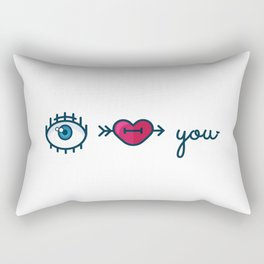 Eye Heart You Rectangular Pillow