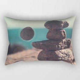 Floating Rock Rectangular Pillow