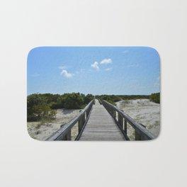 Blue Skies and Boardwalks Bath Mat