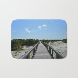 Blue Skies and Boardwalks Bath Mat