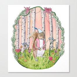 Sinclair the Squirrel Canvas Print