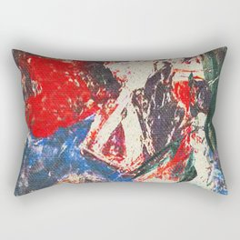 女性着物着て (woman wearing kimono) Rectangular Pillow