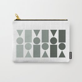Ombre Shapes in Grey Carry-All Pouch