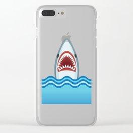 Cartoon Shark Clear iPhone Case