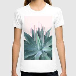 Agave geometrics II - pink T-shirt