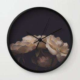 4 flowers Wall Clock