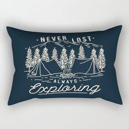 Never Lost Always Exploring (Cream) Rectangular Pillow