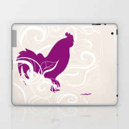 Farm Poster #2 - Rooster & Worm Laptop & iPad Skin