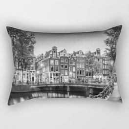 AMSTERDAM Idyllic impression from Singel | Monochrome Rectangular Pillow