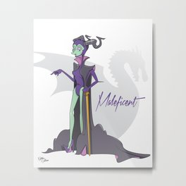 Dis Fashion, Maleficent  Metal Print