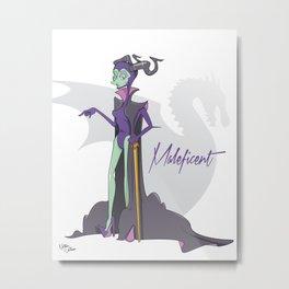 Dis Fashion, Maleficent  Metal Print