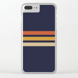 Vintage Retro Stripes Clear iPhone Case