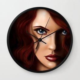 Scarlett Johansson as Black Widow Wall Clock